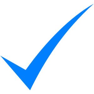 Blue check mark clip art clipart.