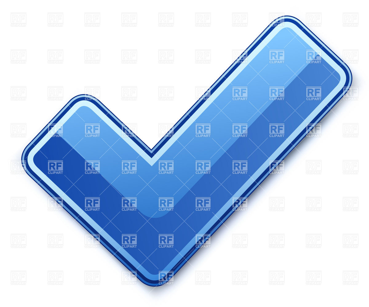 Blue check mark Stock Vector Image.