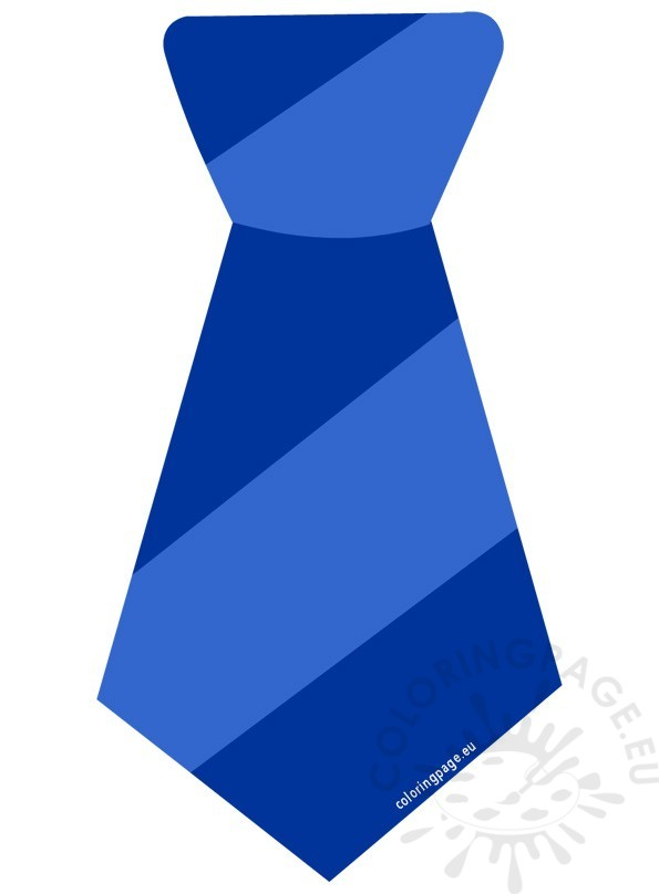 Striped Blue Tie Clipart.