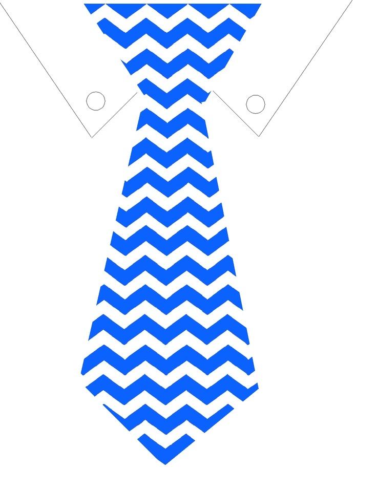 Blue Tie Chevron Printable clipart free image.