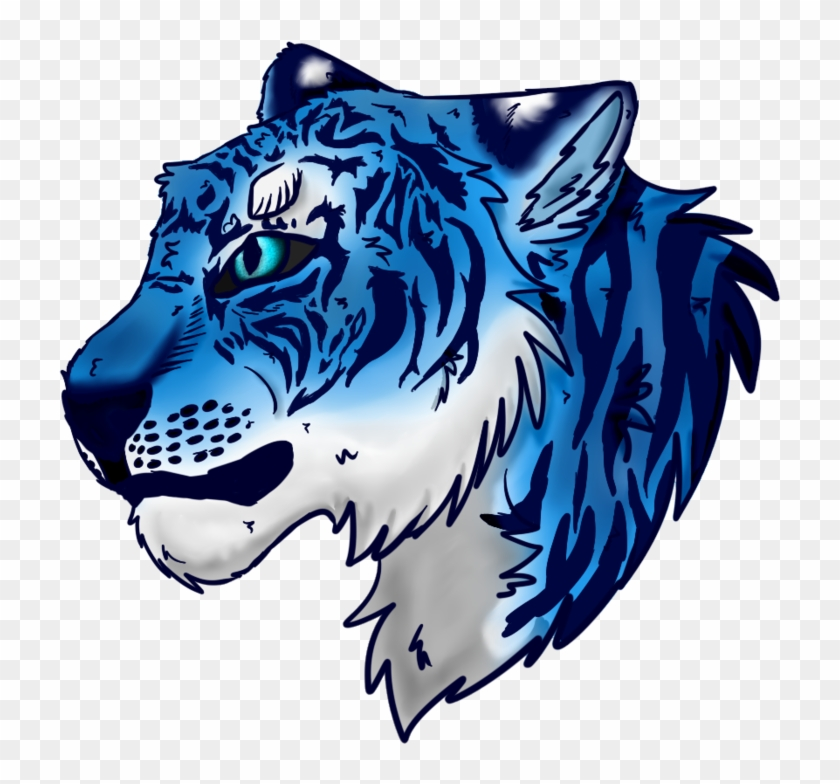 Blue Tiger Png Svg Library Download, Transparent Png.