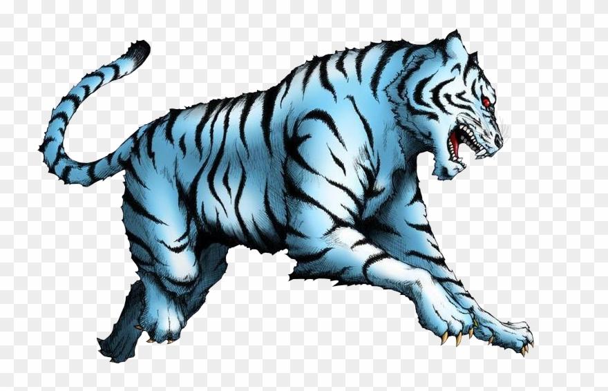 Tiger Png Blue.