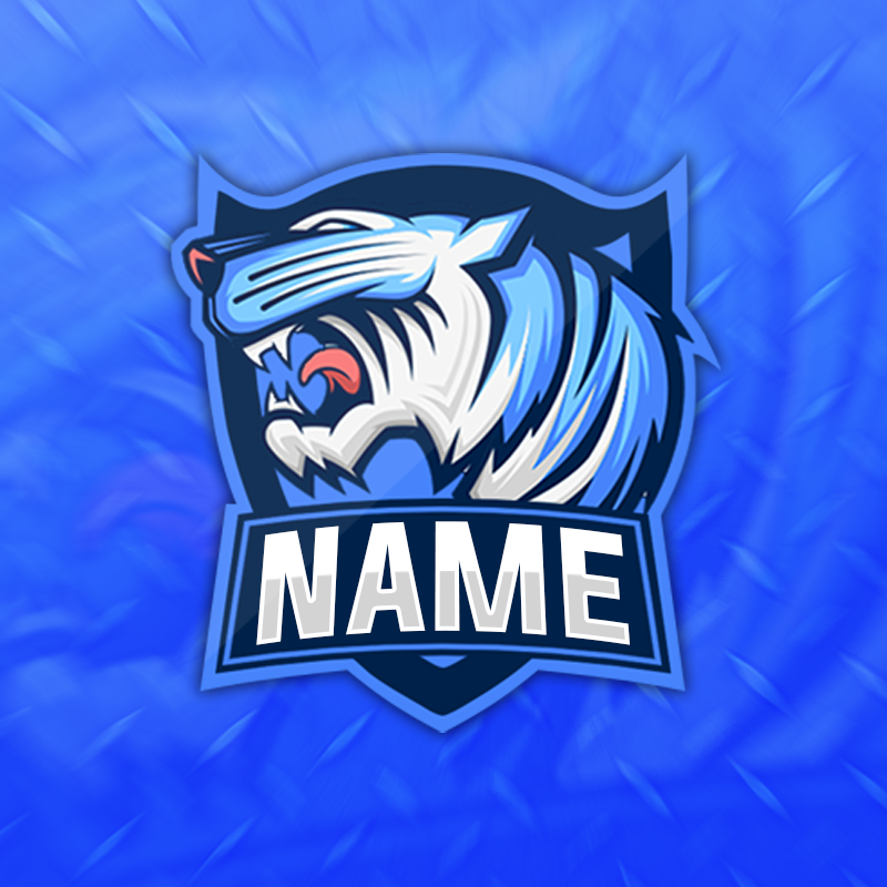 Blue Tiger Gaming Clan Mascot Avatar.