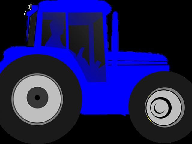 Blue Tractor Clipart , Transparent Cartoon.