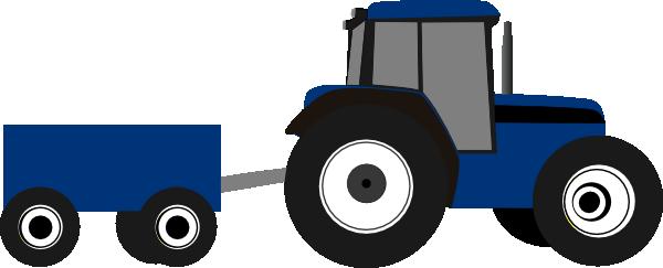 Blue Tractor Clip Art at Clker.com.