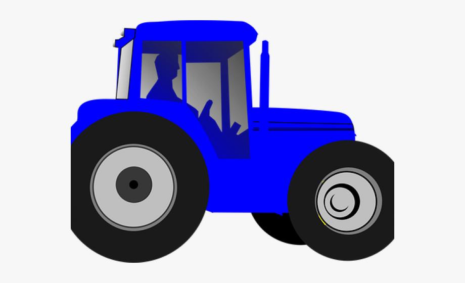 Blue Tractor Clipart, Cliparts & Cartoons.