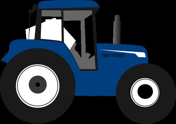 Tractor Blue Clip Art at Clker.com.