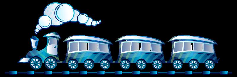 Free Clipart: Blue Train.