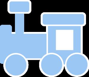 Train Clipart Blue.