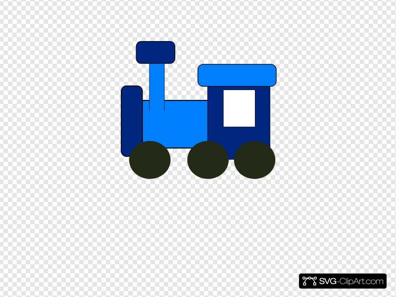 Blue Train Clip art, Icon and SVG.