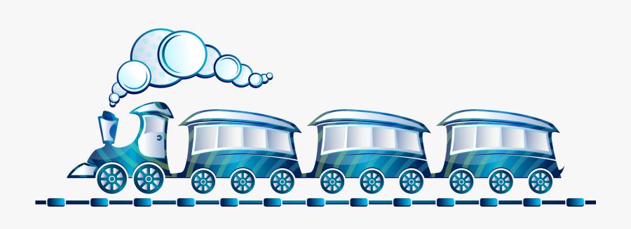 Toy Train, Blue, Locomotive, Rail, Railway, Smoke.