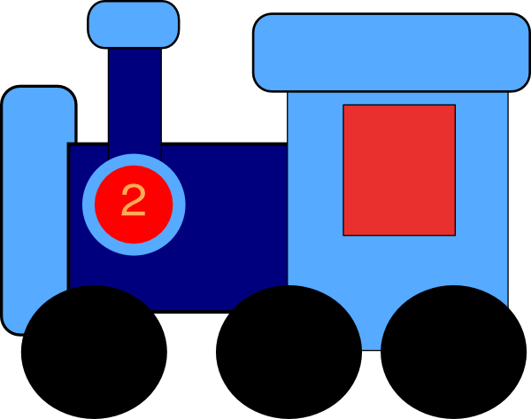 Blue train engine clipart free clipart images.