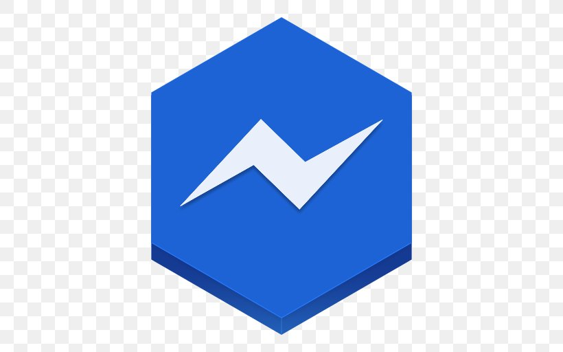Blue Triangle Area, PNG, 512x512px, Facebook Messenger, Aim.