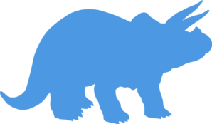 Blue Triceratops Clipart.