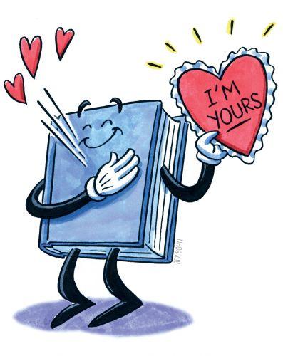 Valentine Book Clipart.