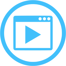 Blue video icon download free clip art with a transparent.
