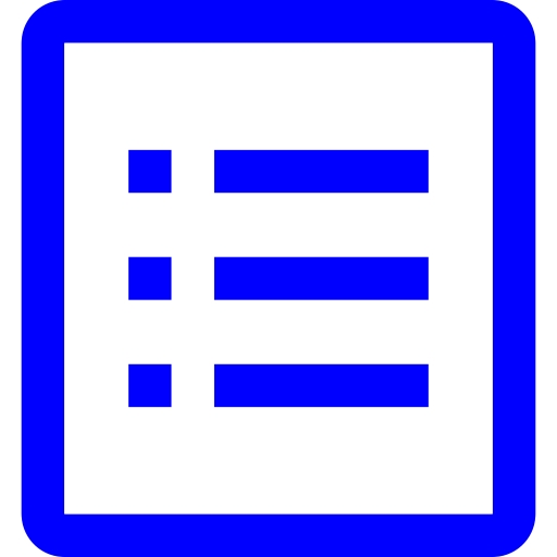 Free blue view details icon.