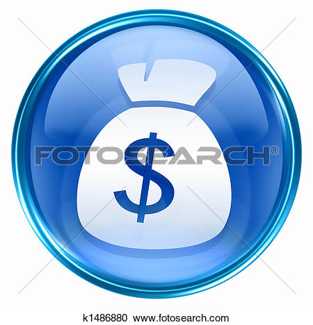 Stock Illustrations of dollar icon blue k1486880.