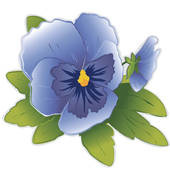 Violets are blue clipart.
