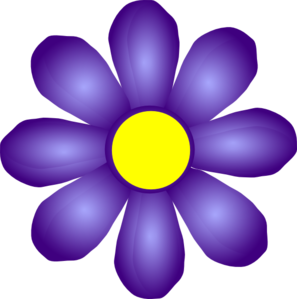 Violet Flower Clip Art at Clker.com.