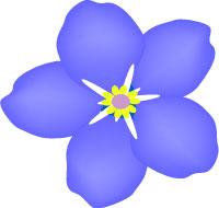 Blue Violet Clipart.