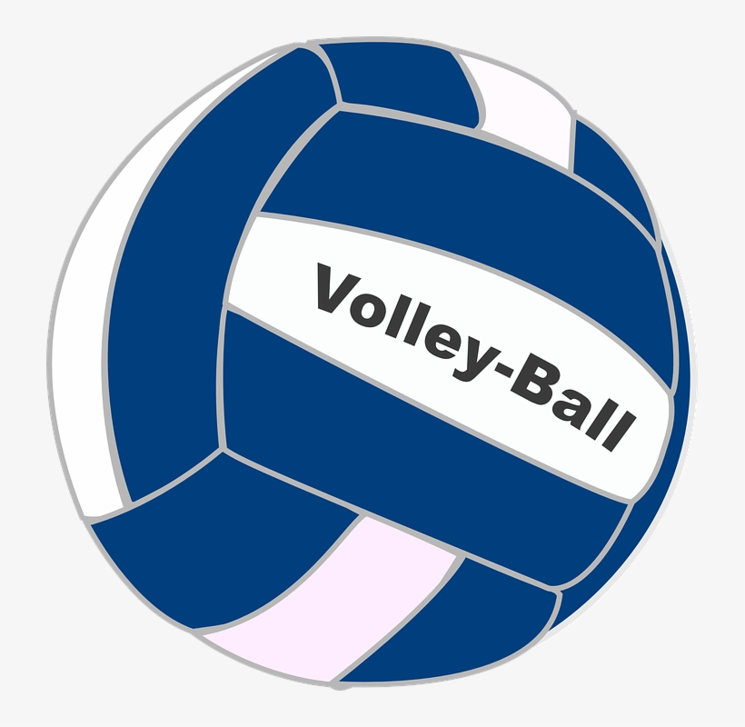 Volleyball Clipart Blue.
