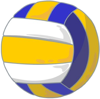 Volleyball Blue Clip Art Free Clipart Images Transparent Png.