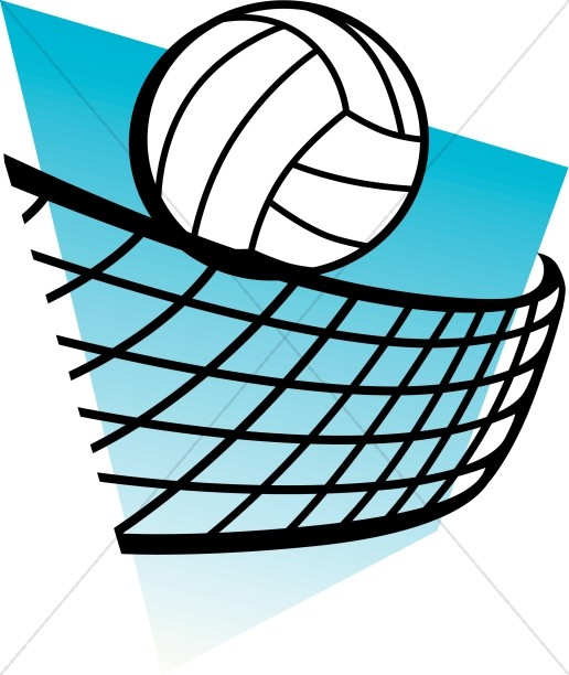 Volleyball with Blue Background.