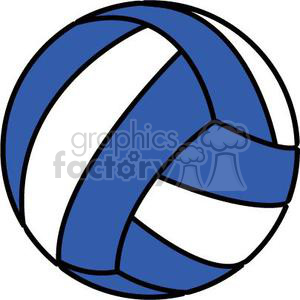 volleyball blue and white clipart. Royalty.