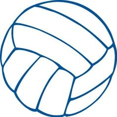 Blue Volleyball Cliparts.