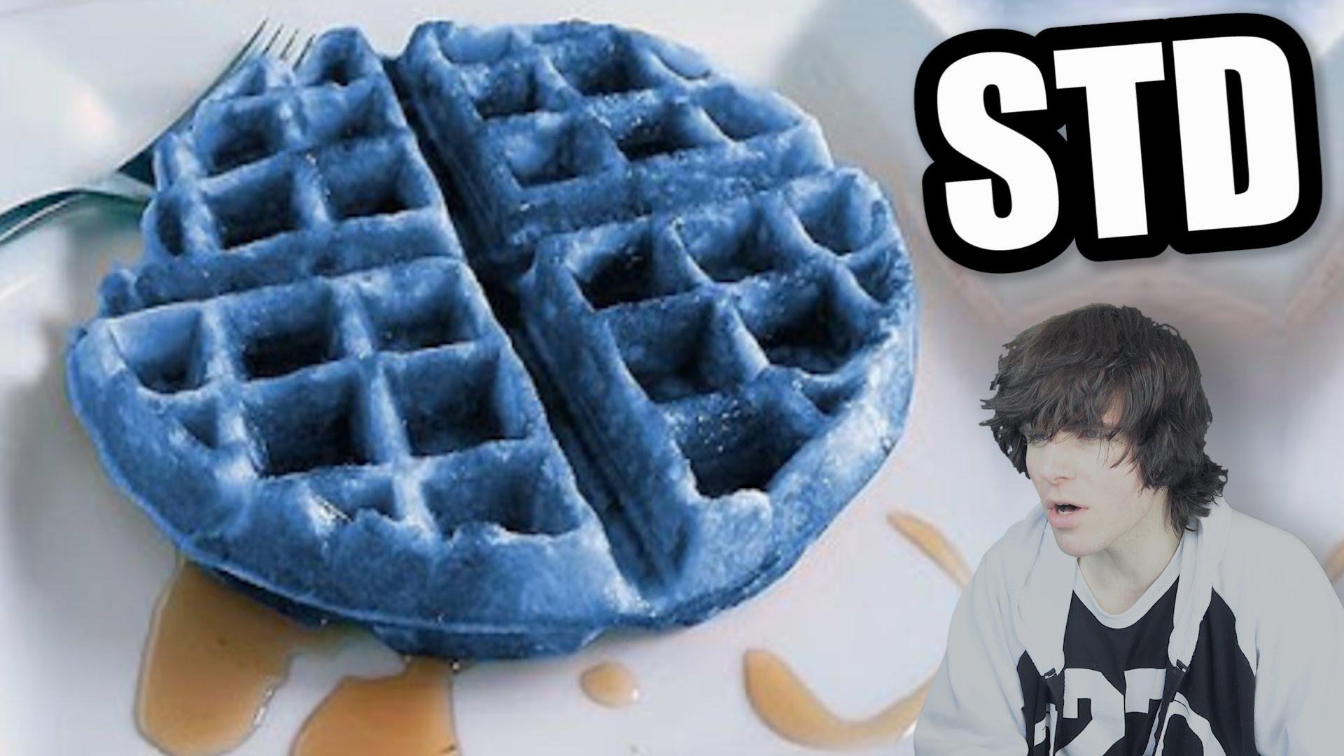 Clipart of blue waffles.