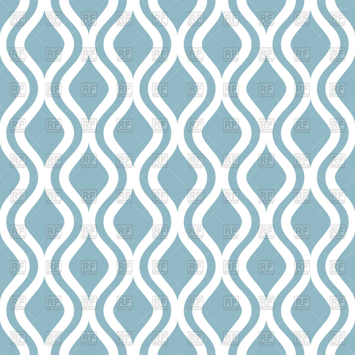 Seamless simple wallpaper with blue vertical wavy lines Vector.
