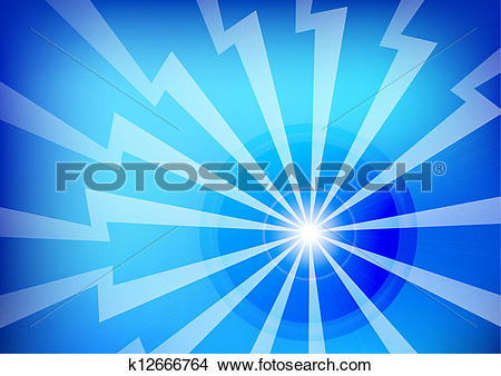Drawings of Abstract Blue Lightning Background Wallpaper k12666764.