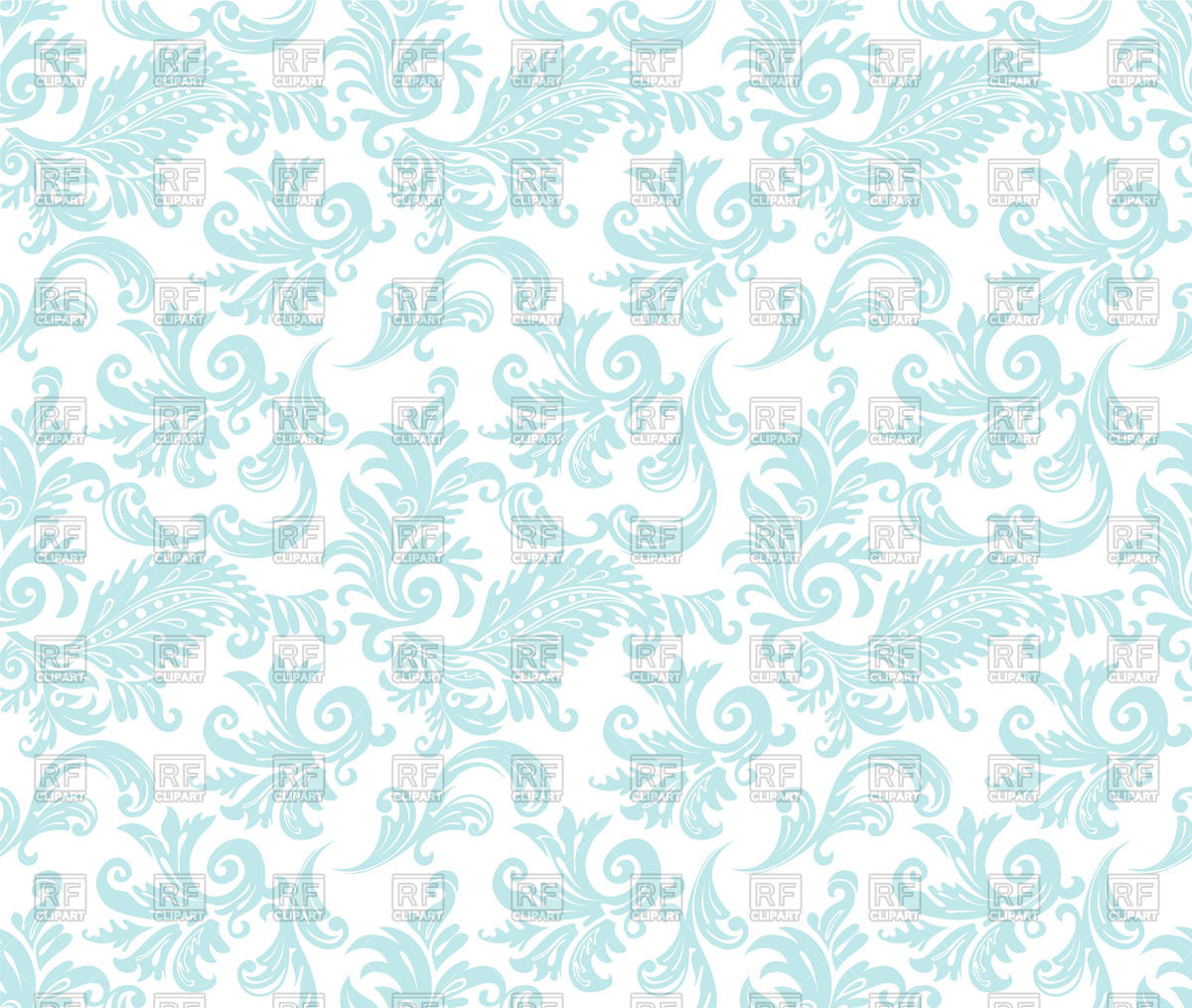Blue damask seamless wallpaper Vector Image #58940.