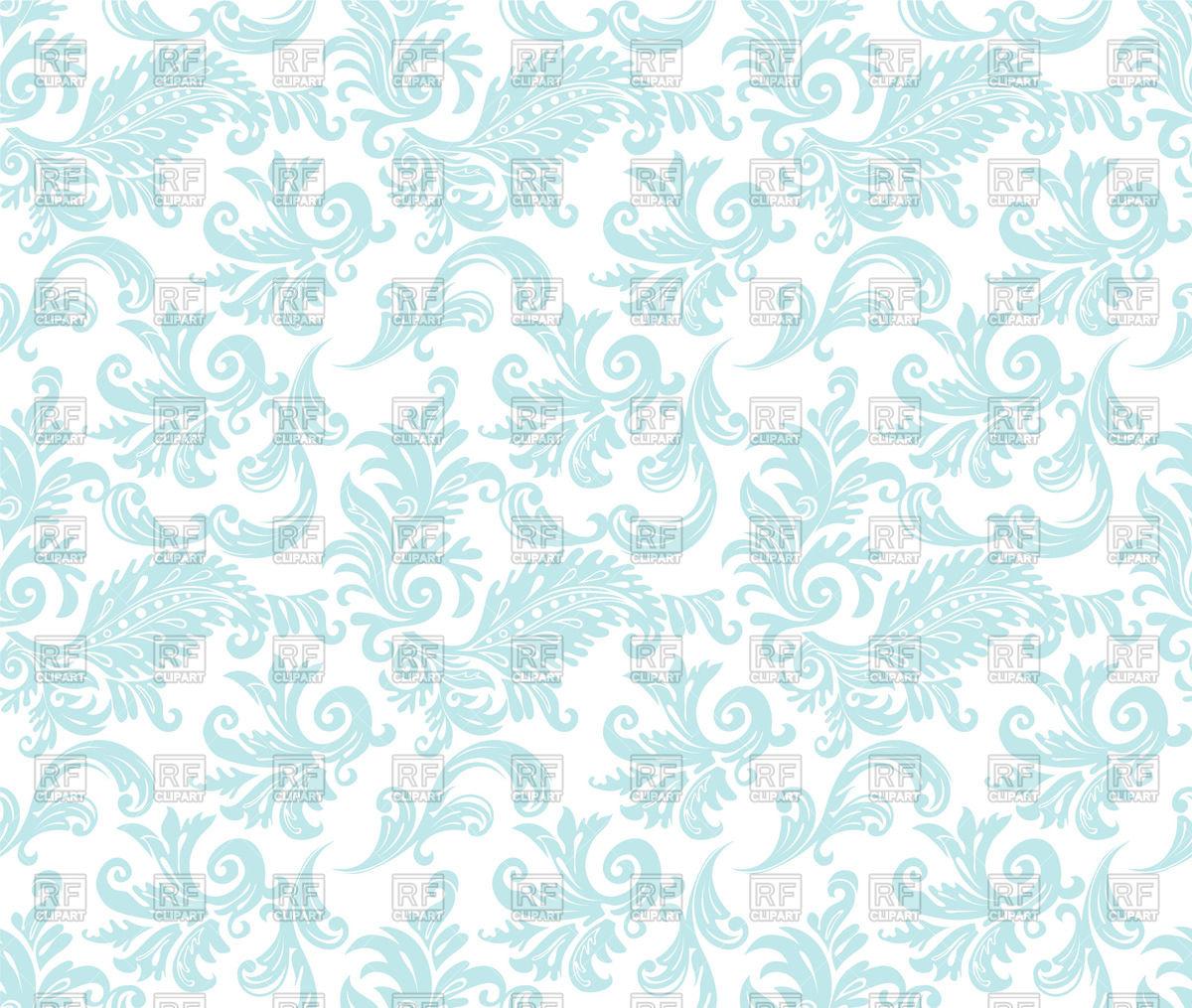 Blue damask seamless wallpaper Vector Image #58940.