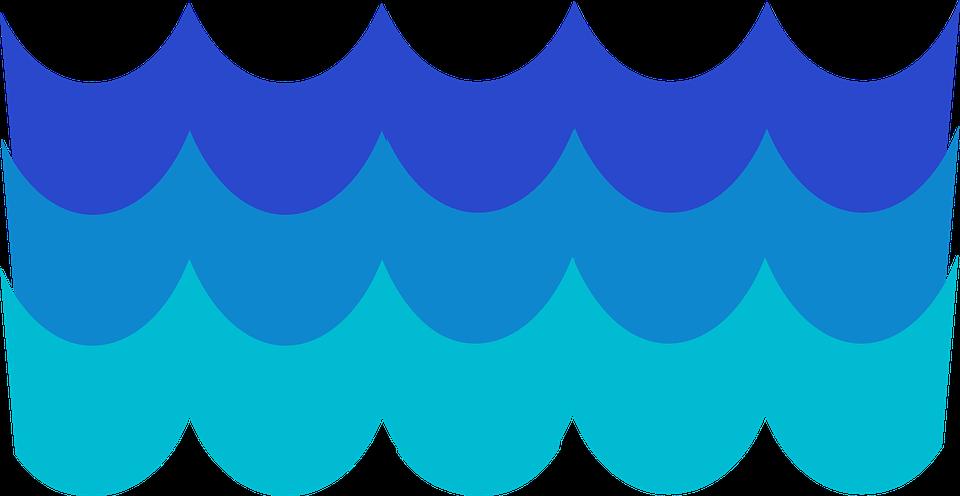 Free vector graphic: Waves, Pattern, Blue, Water, Ocean.