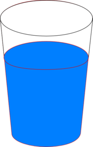 Cup Of Blue Water clip art.