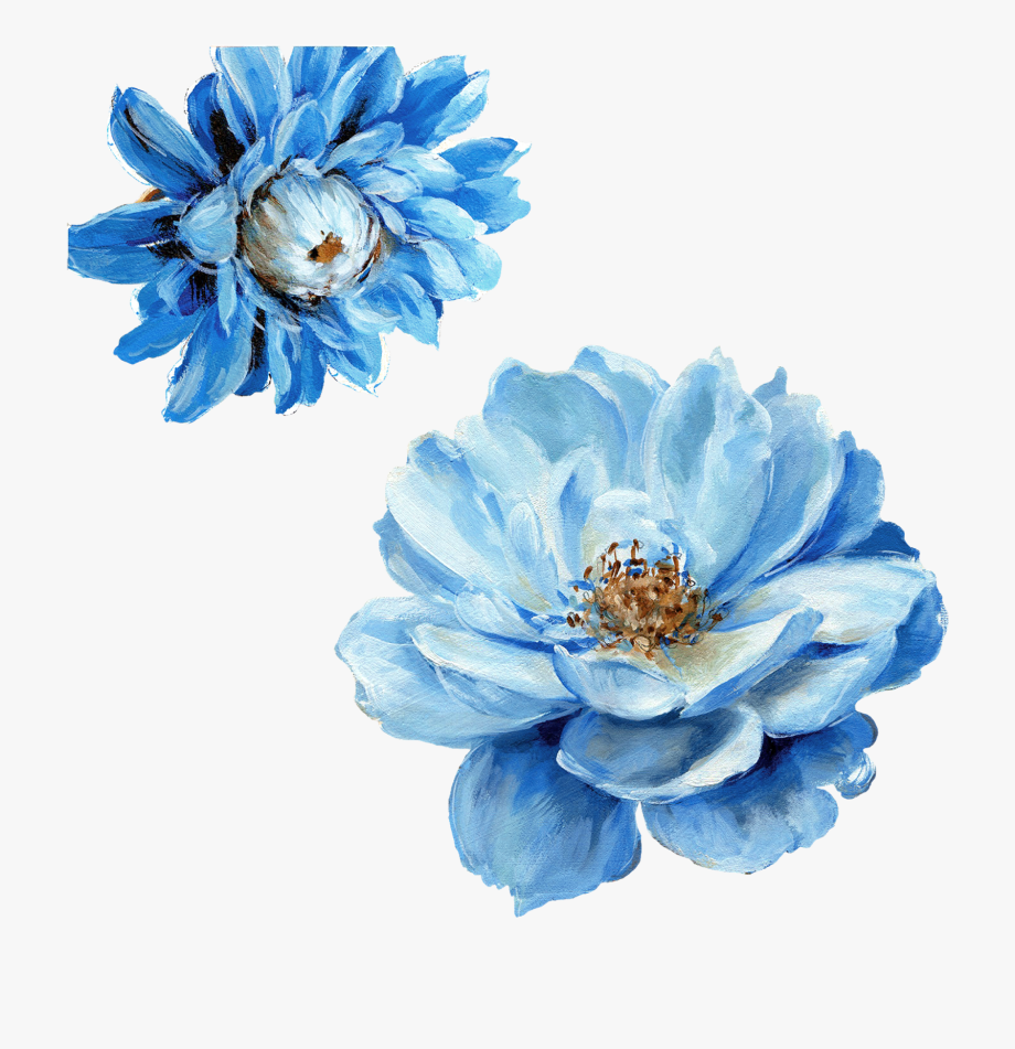 Png Blue Flowers.
