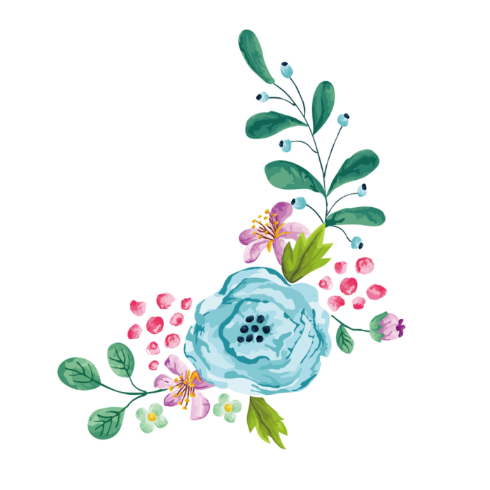 Blue Watercolor Flower Png Vector, Clipart, PSD.