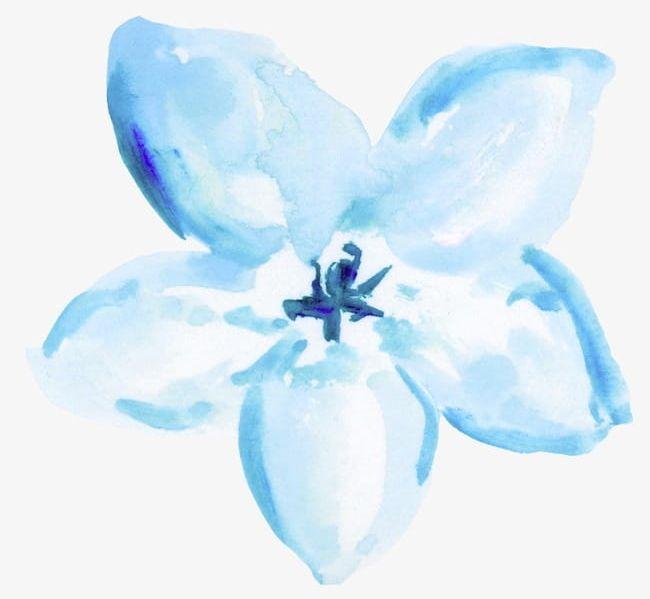 Blue Watercolor Flowers PNG, Clipart, Blue, Blue Clipart, Blue.