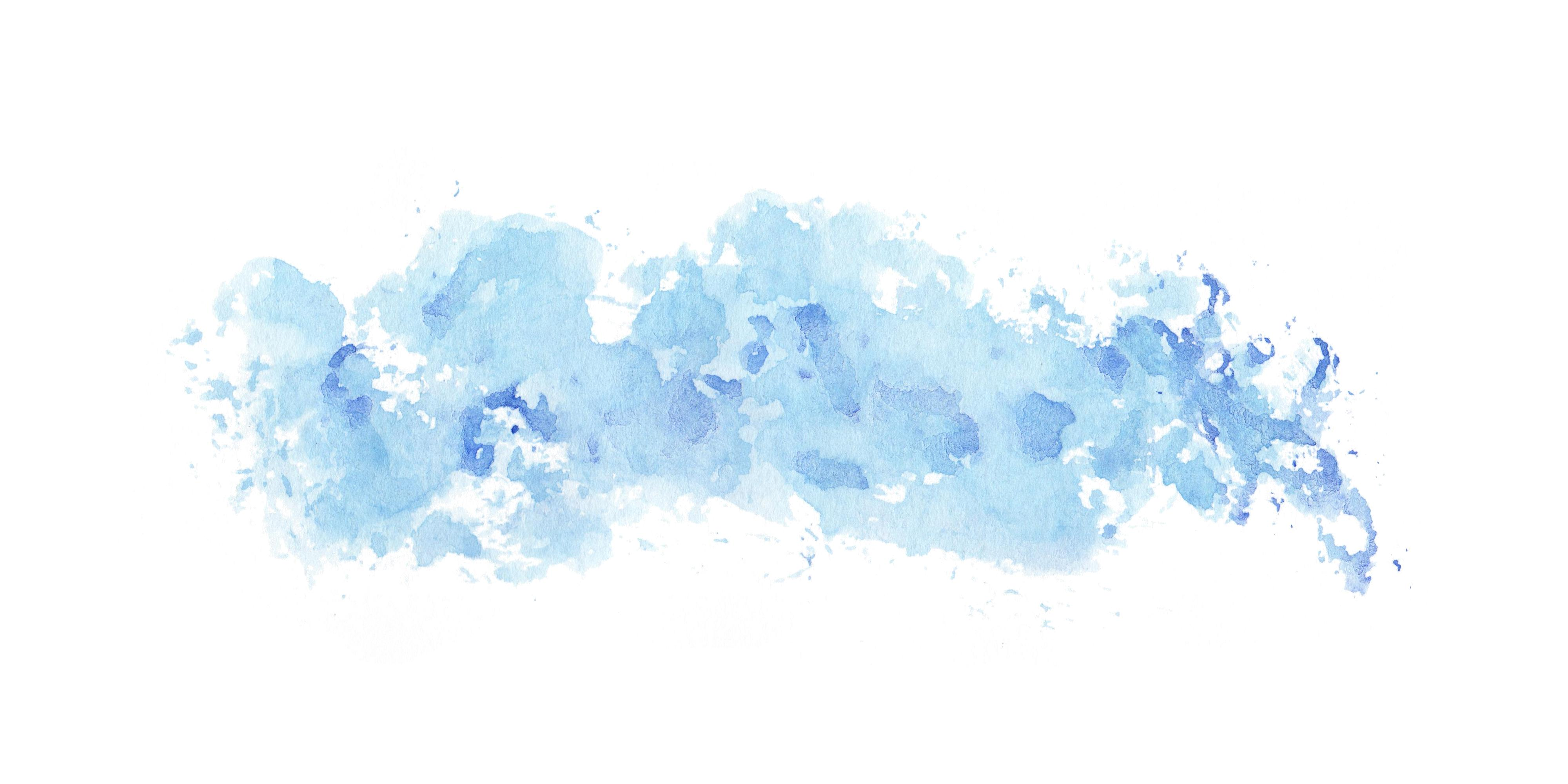 5 Blue Watercolor Clouds Wash Texture (JPG).