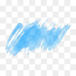 Blue Watercolor PNG Images.