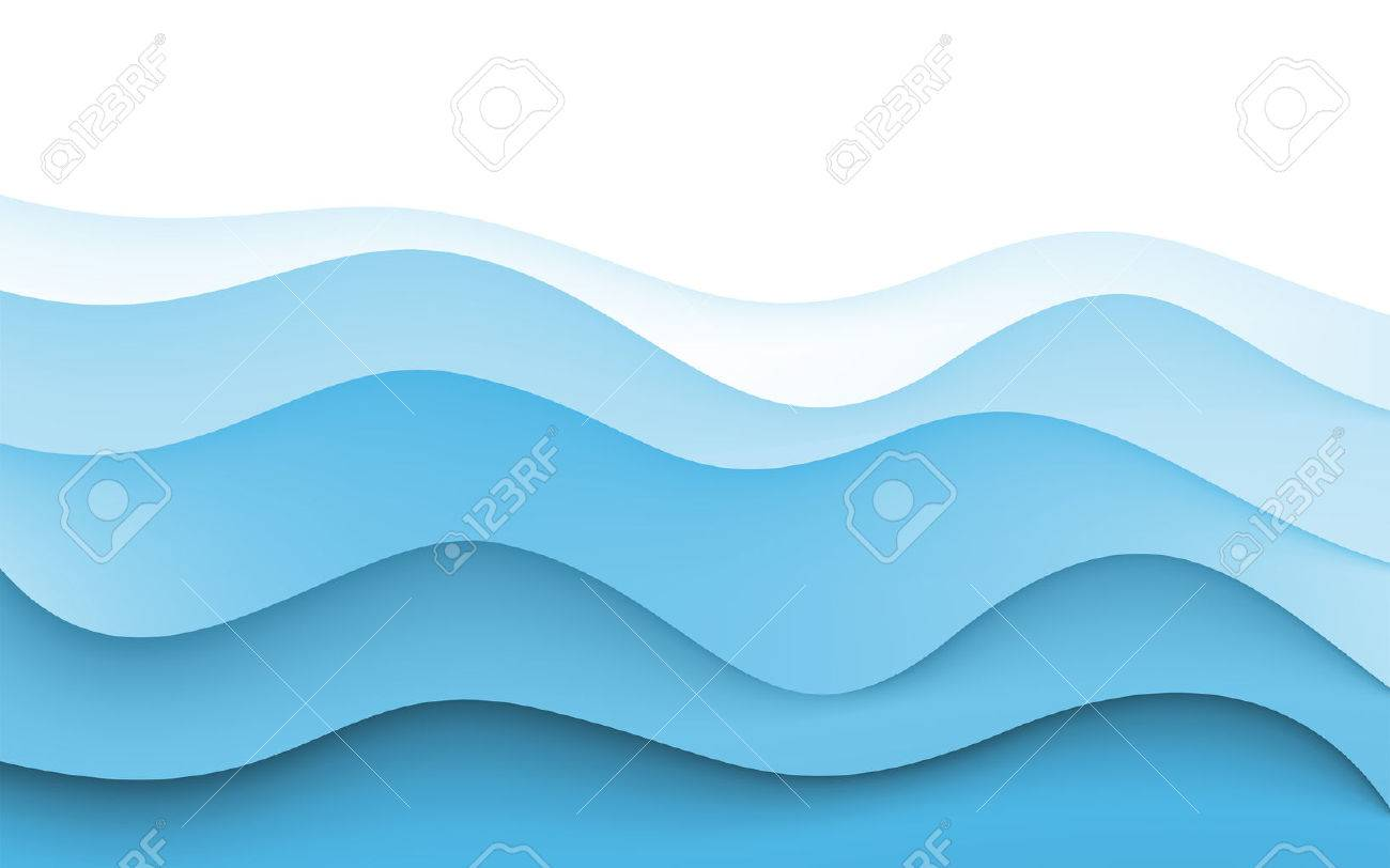 Abstract Design Creativity Background of Blue Waves. Vector.