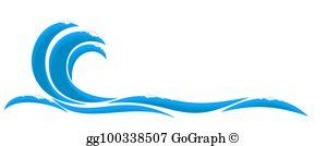Blue Wave Clip Art.