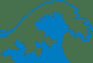 Blue Wave Clipart transparent PNG.