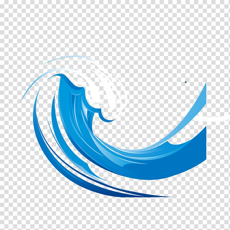 Blue and white sea waves , Wind wave Euclidean , Blue waves.