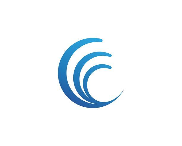 C wave logo vector illustration design.