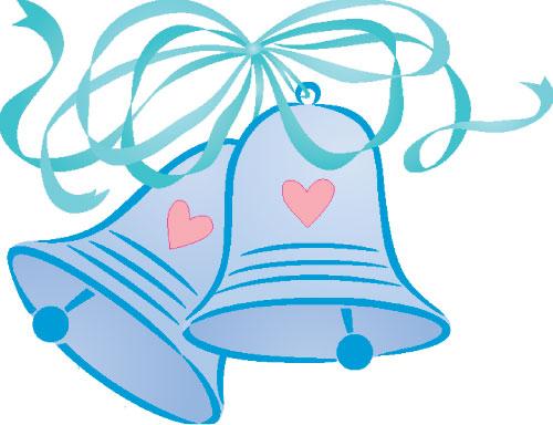 596 Wedding Bells free clipart.