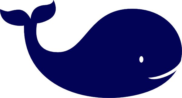 Baby blue whale clipart.