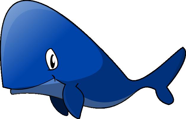 Baby Blue Whale Clip Art.